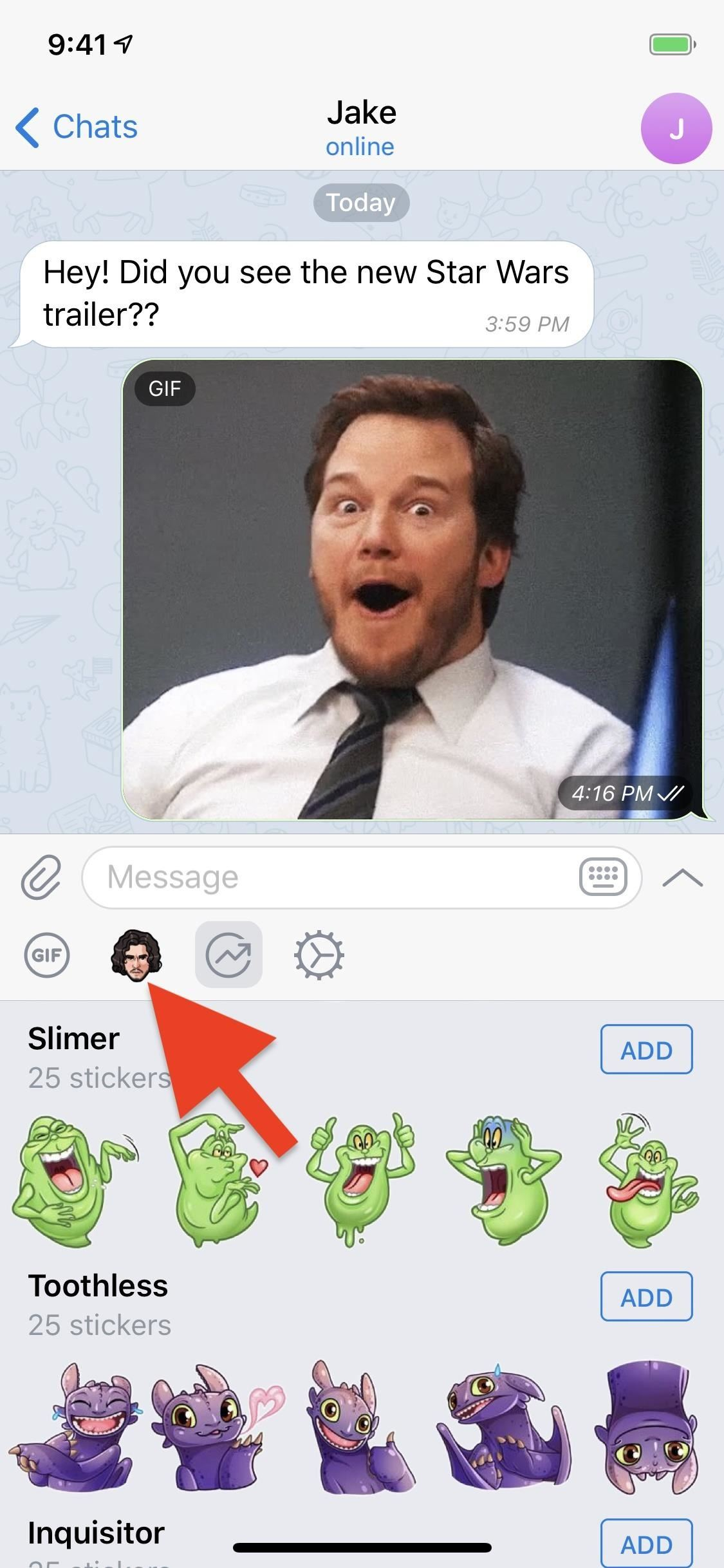 How to Use Telegram's GIF & Sticker Search to Find a Perfect Reaction for a Chat