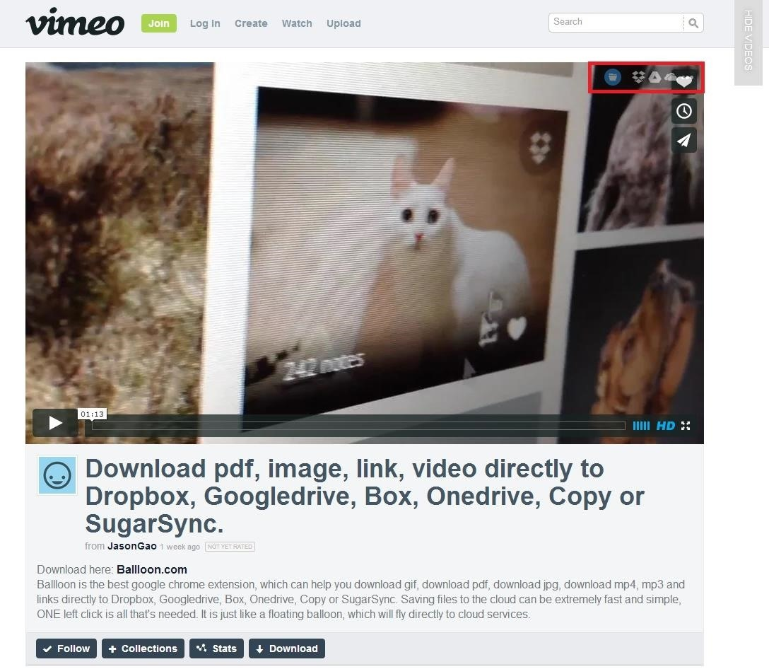 2 Ways to Save Vimeo Clips to Cloud Storage with One Click