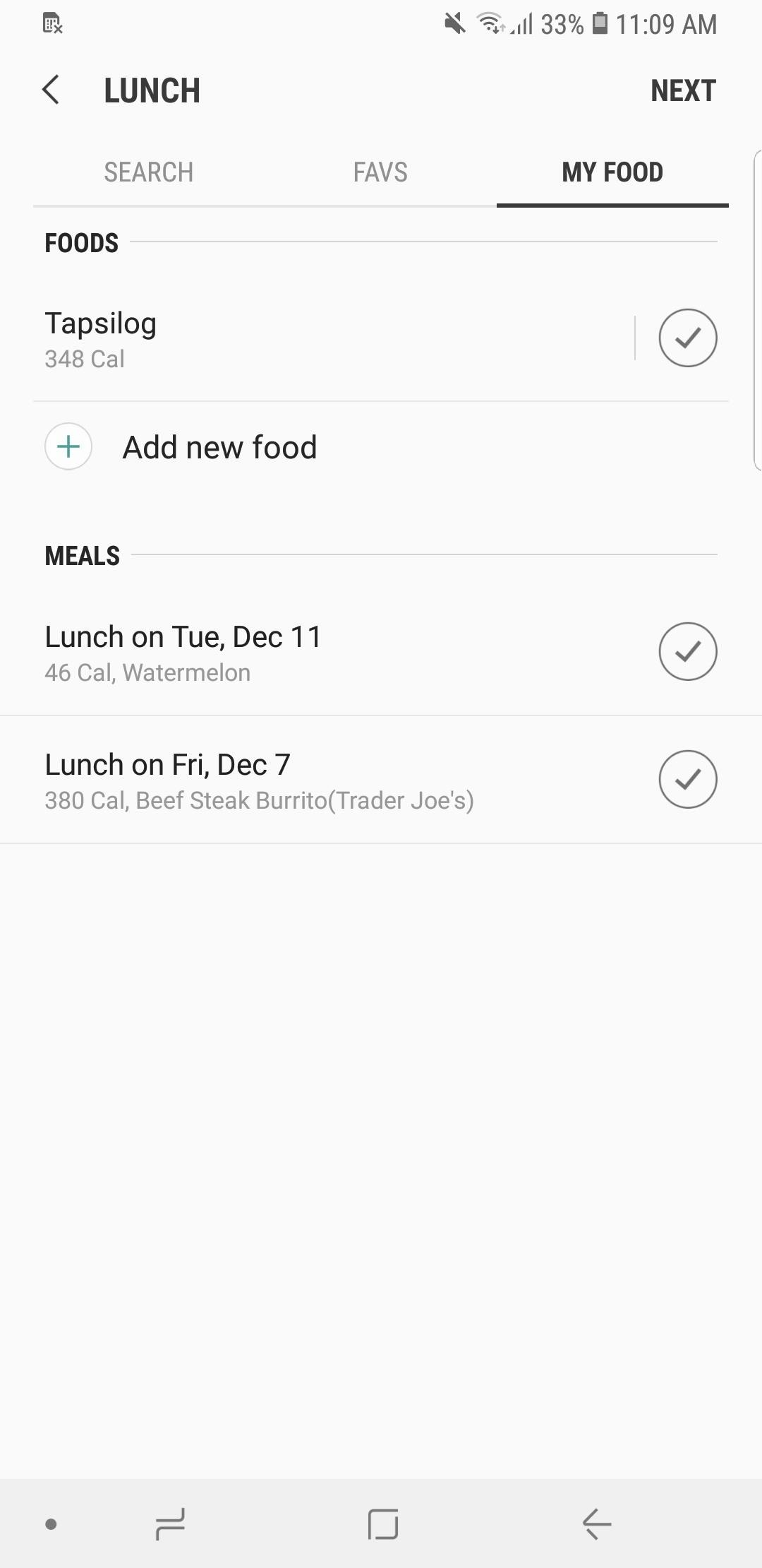 how to count calories log nutrition with samsung health android