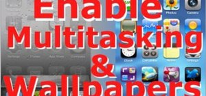 Use multitasking and homescreen wallpaper  iOS4 jailbroken iPhone 3G or Touch