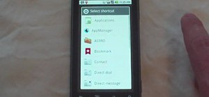 Add a bookmark to your home screen on a Motorola Droid