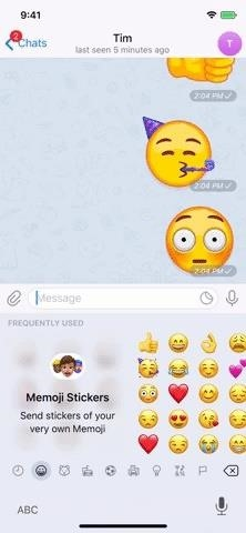 Send animated emojis in telegram chats to highlight your reactions