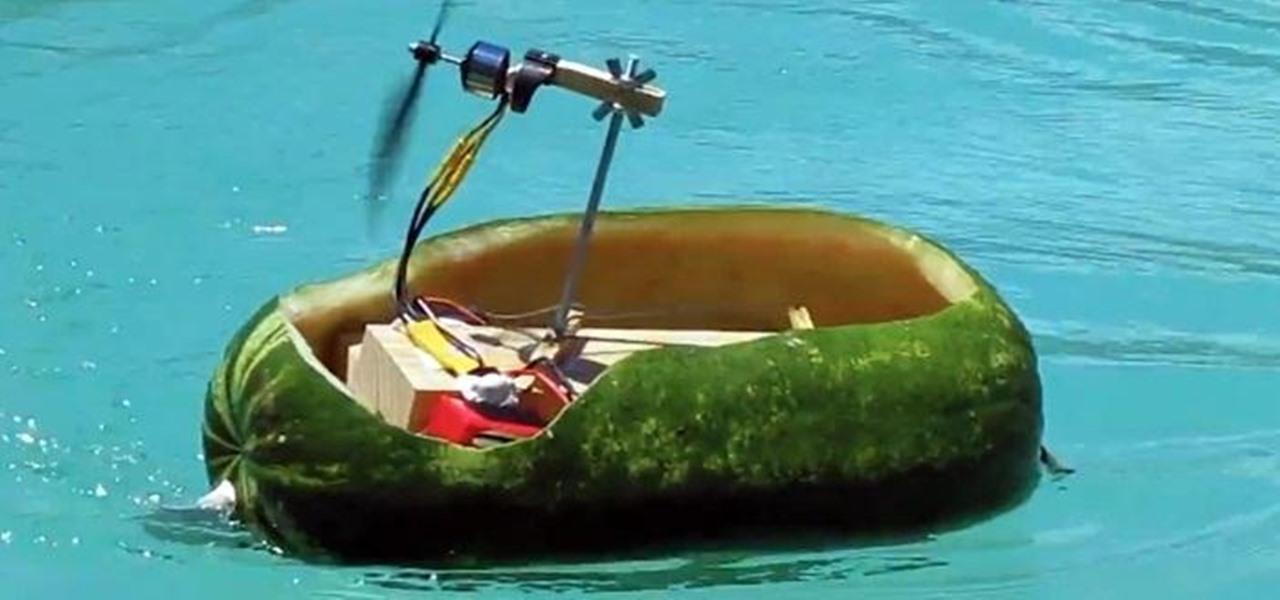 Build a Radio Controlled Watermelon Air Boat