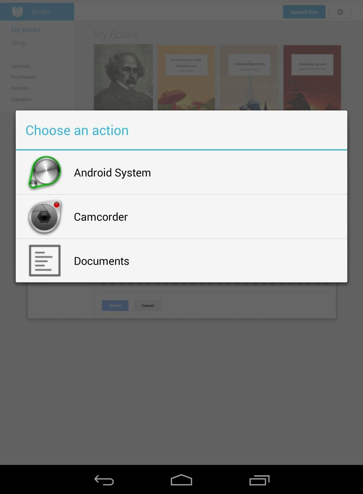 How to upload your ebook collection to your nexus 7 tablet using method 1b uploading from the web app nexus 7 fandeluxe PDF