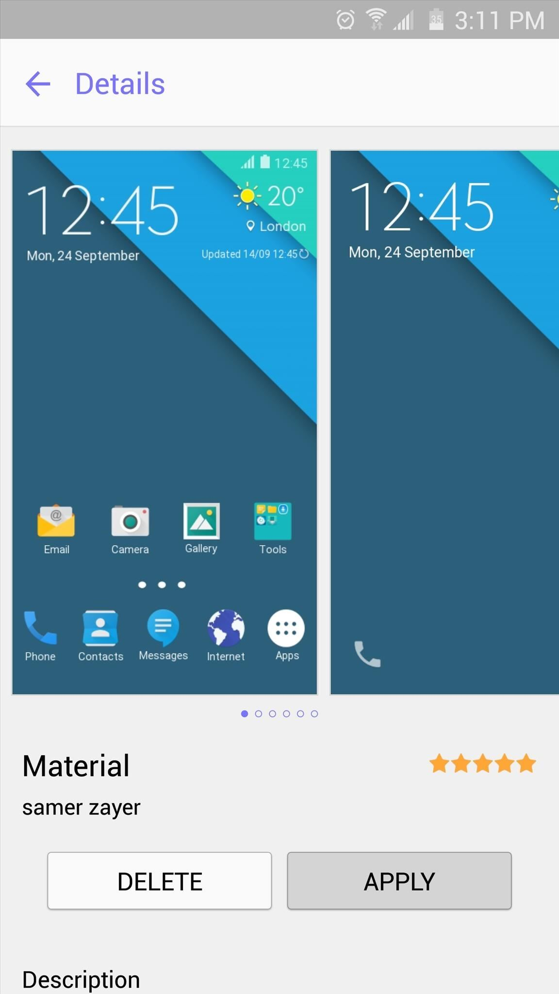 Zayer's Theme Changes The Appearance Of Several Stock Apps, As Well As The  Notification Tray And Settings Menu With This One Applied, Your Galaxy S6  Will