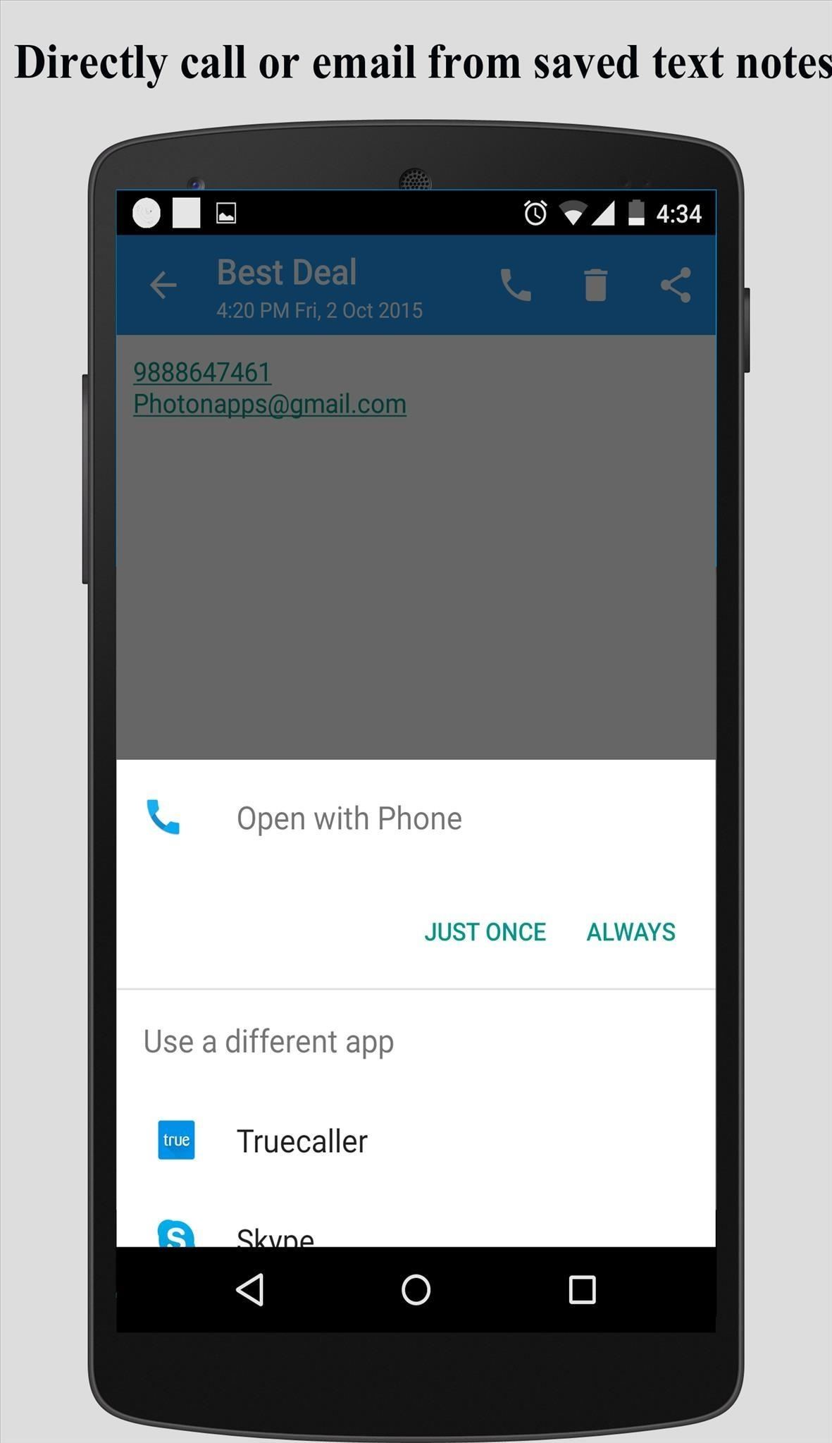 How to Take Notes and Save Numbers During a Call on Android 6.0 Marshmallow