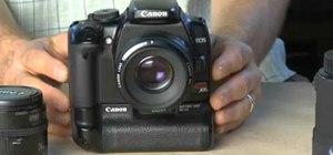 Use a prime lens on a Canon EOS DSLR camera