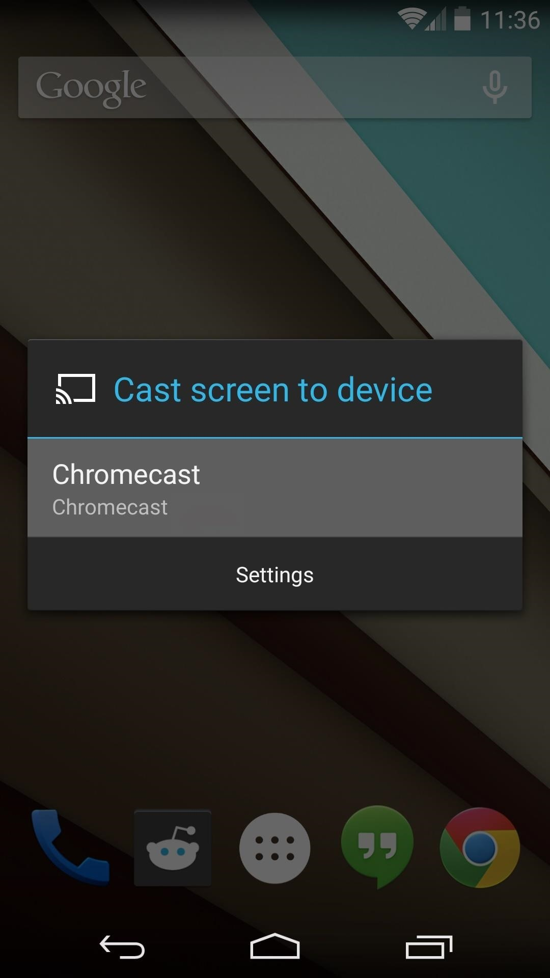 How to enable the chromecast screen mirroring feature cord cutters gadget hacks - Mirror screen ...