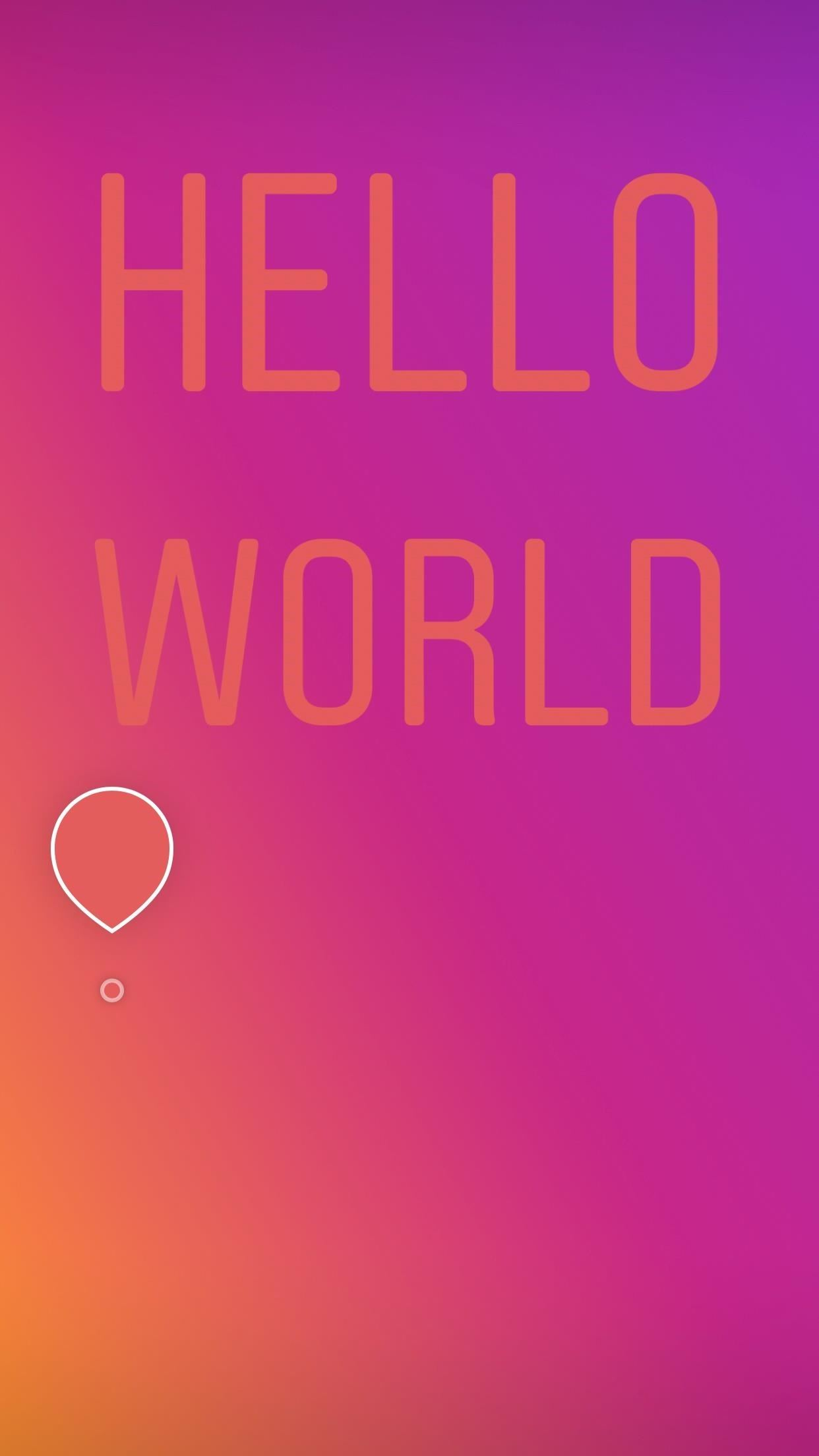 Instagram 101: How to Use Type Mode for Colorful Text-Only Stories ...