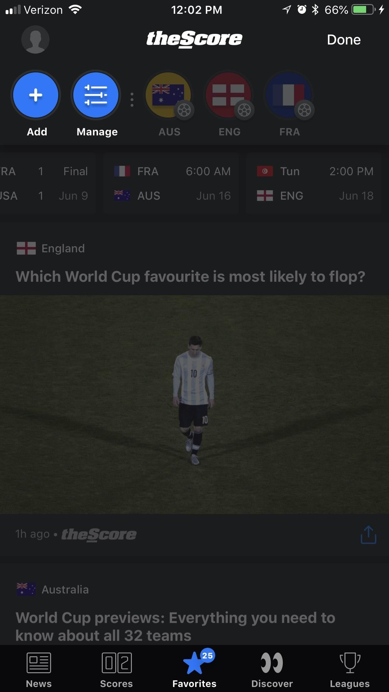 The best way to keep up with the World Cup news and ratings on your phone