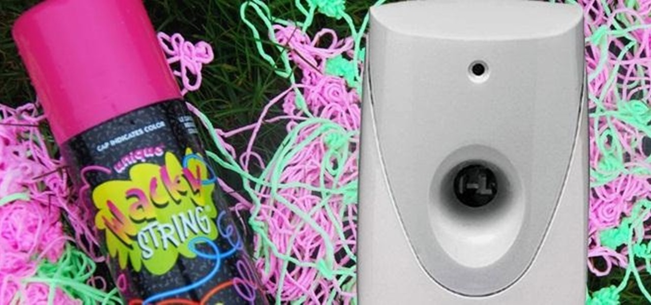 Turn an Automatic Air Freshener Dispenser into a Silly String Launcher