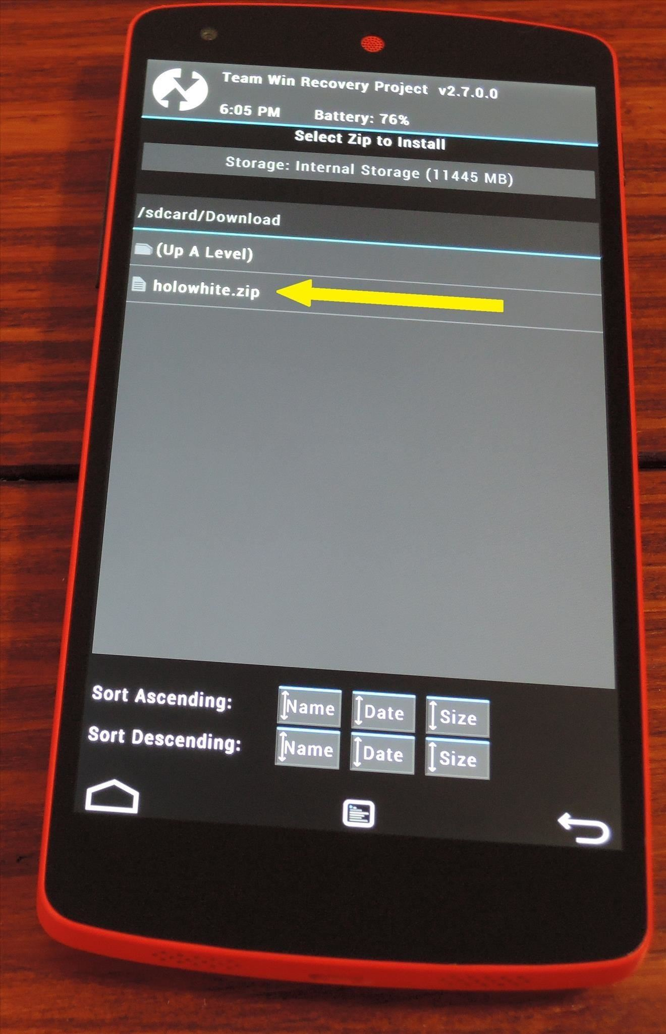 How to Replace All Remaining Holo Blue Elements on Your Nexus 5 with KitKat White