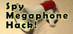 Hack a megaphone into a bionic hearing spy device