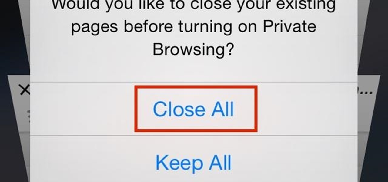 Easily Close All Safari Tabs at Once in iOS 7 for iPhone & iPad