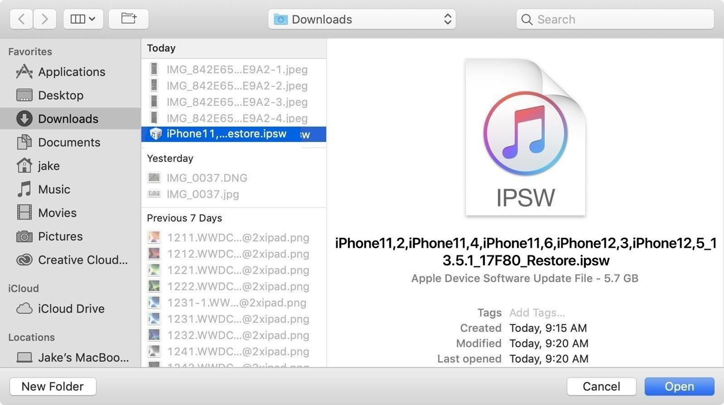 Downgrade iOS 14 back to iOS 13.7 on your iPhone using Finder or iTunes