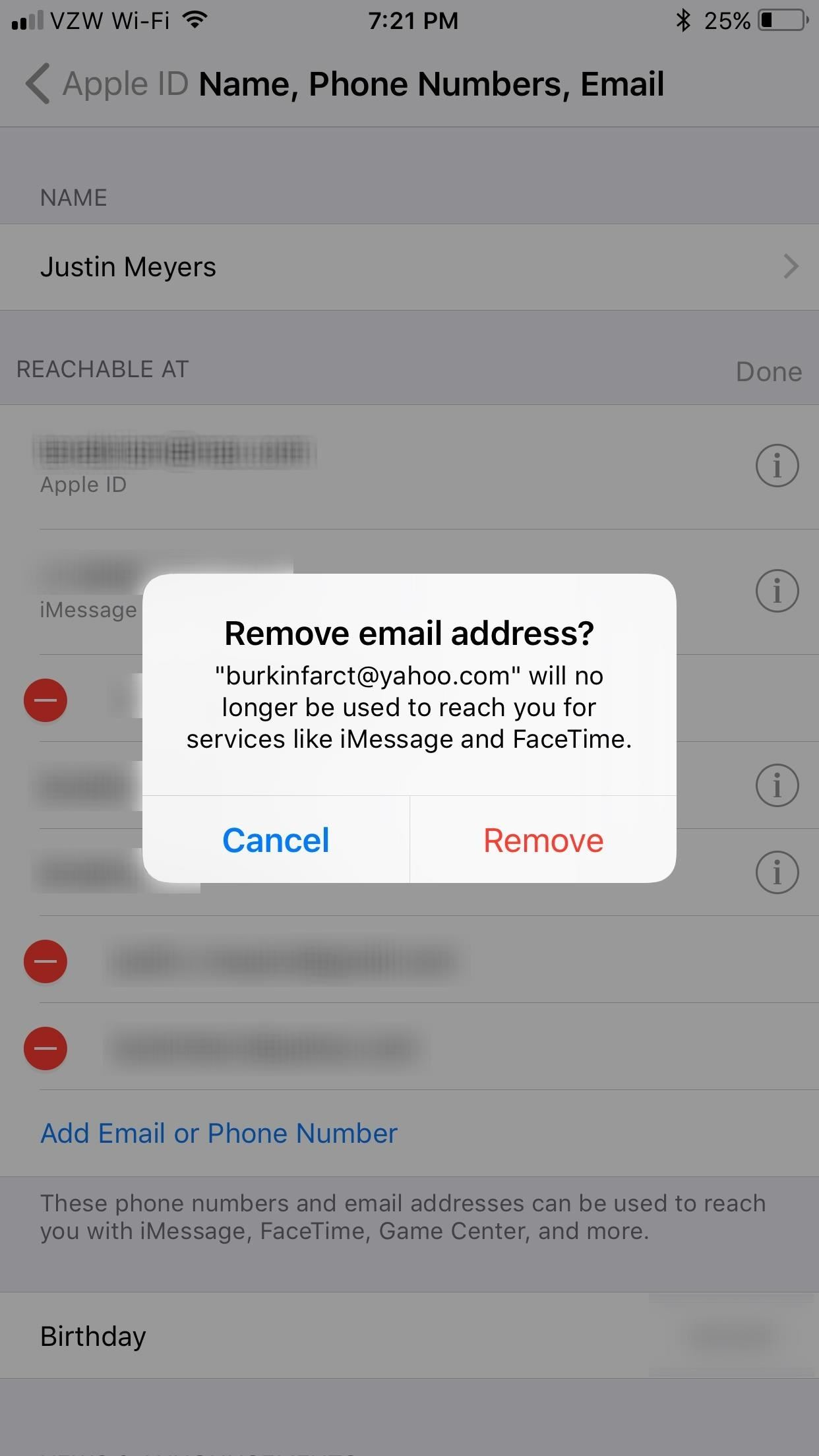 How to Add or Remove Email Addresses to Be Reached At for