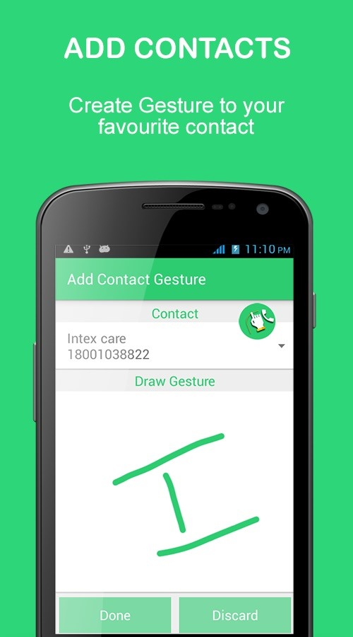 How to Make Phone Calls by Drawing Gestures on Screen.