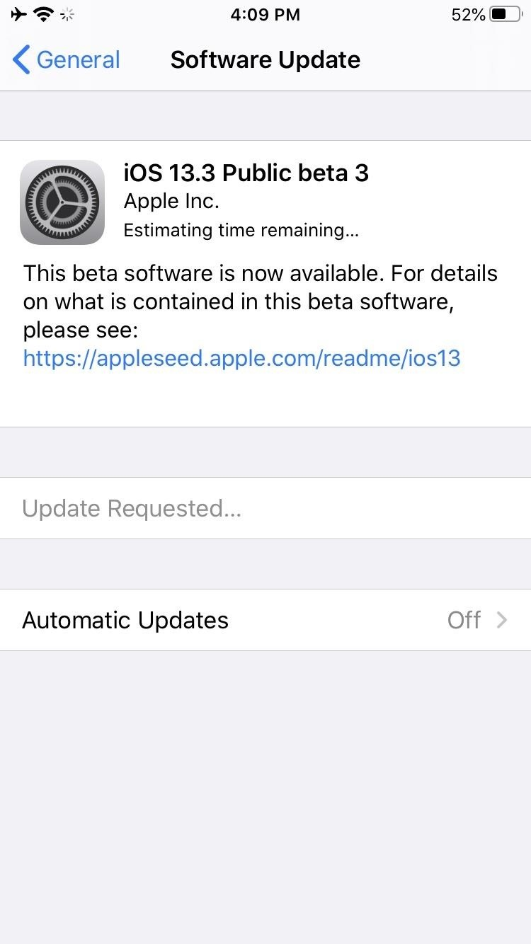 Apple Just Released iOS 13.3 Public Beta 3 to Software Testers