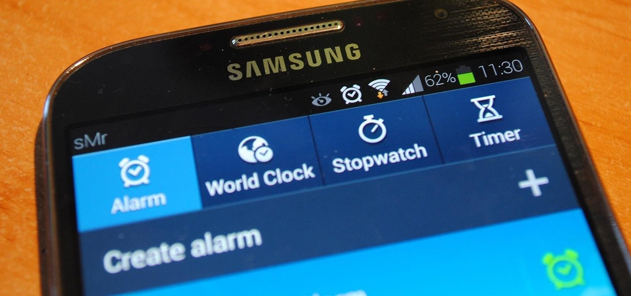 Control When the Alarm Icon Shows Up in the Status Bar on Your Samsung Galaxy S4