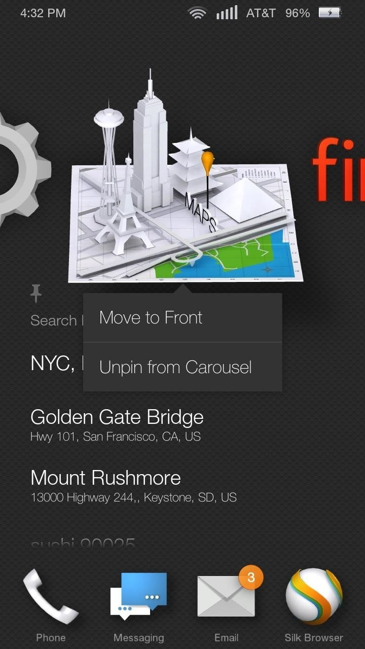 How to Pin Apps to the Carousel on the Amazon Fire Phone