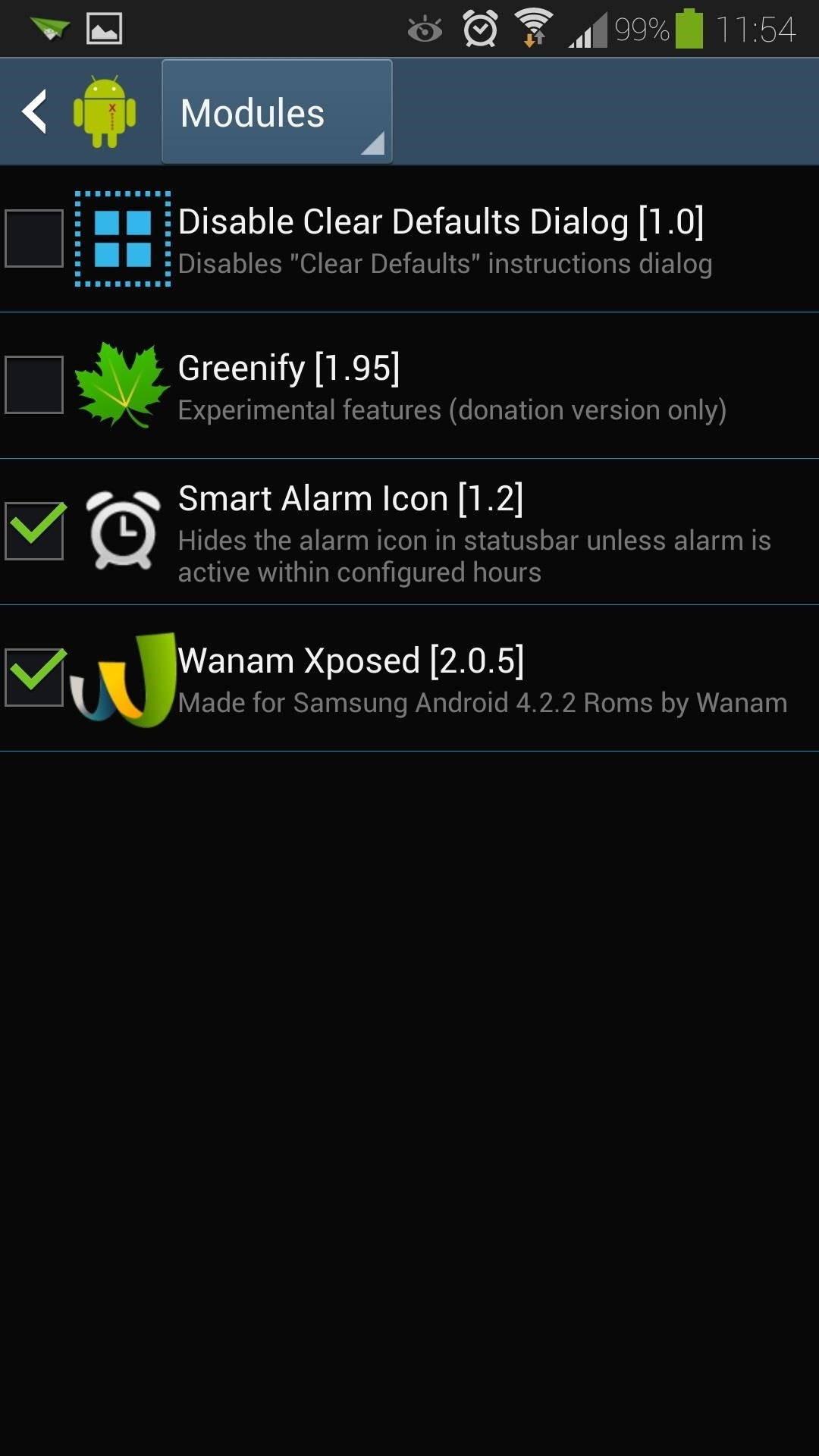 How to Control When the Alarm Icon Shows Up in the Status Bar on Your Samsung Galaxy S4