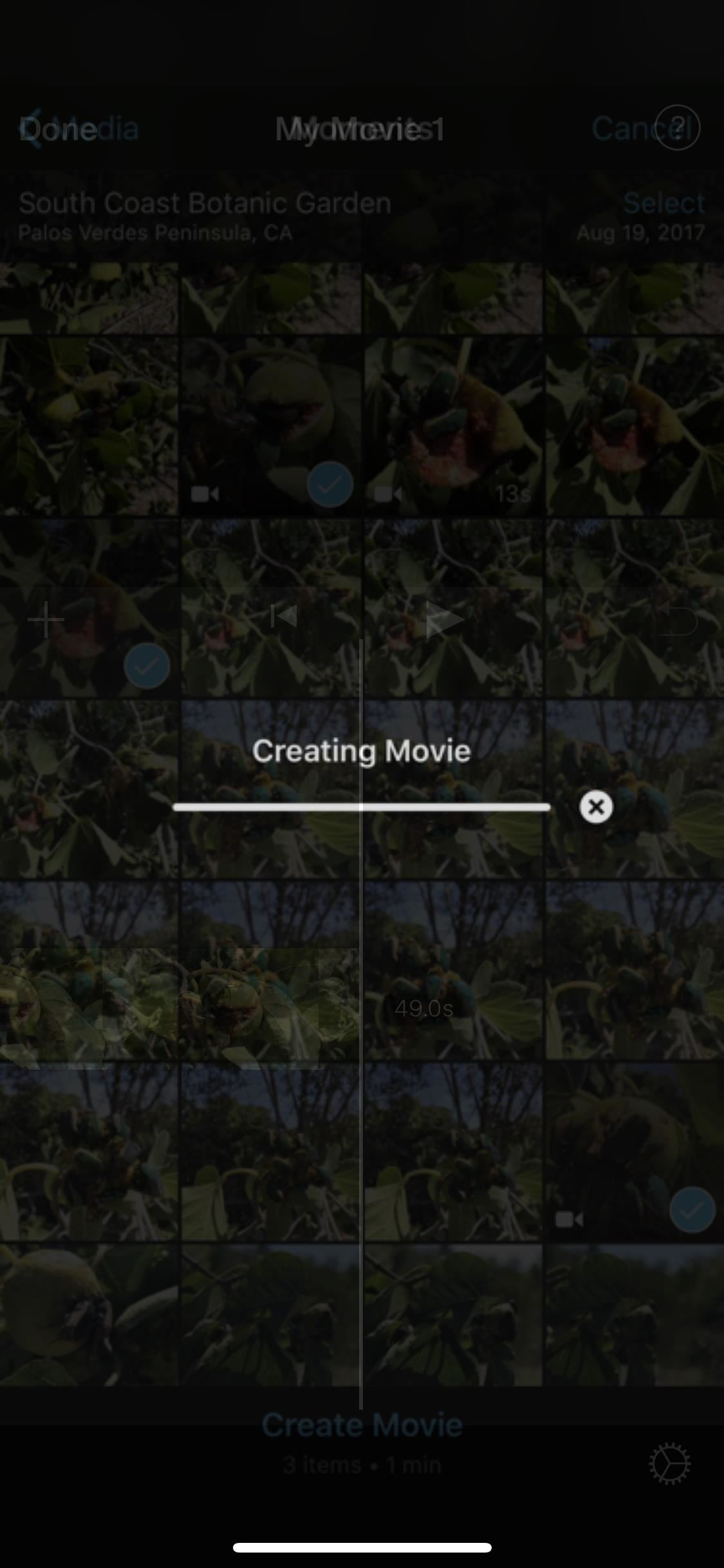 Create a new movie project in iMovie on your iPhone