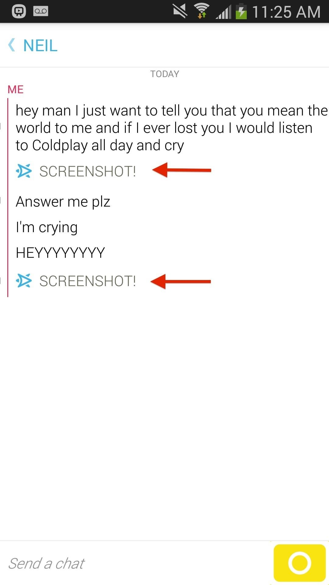 As Is Standard With Snapchat, Taking A Screenshot Of The Conversation Will  Show A Notice In The Thread