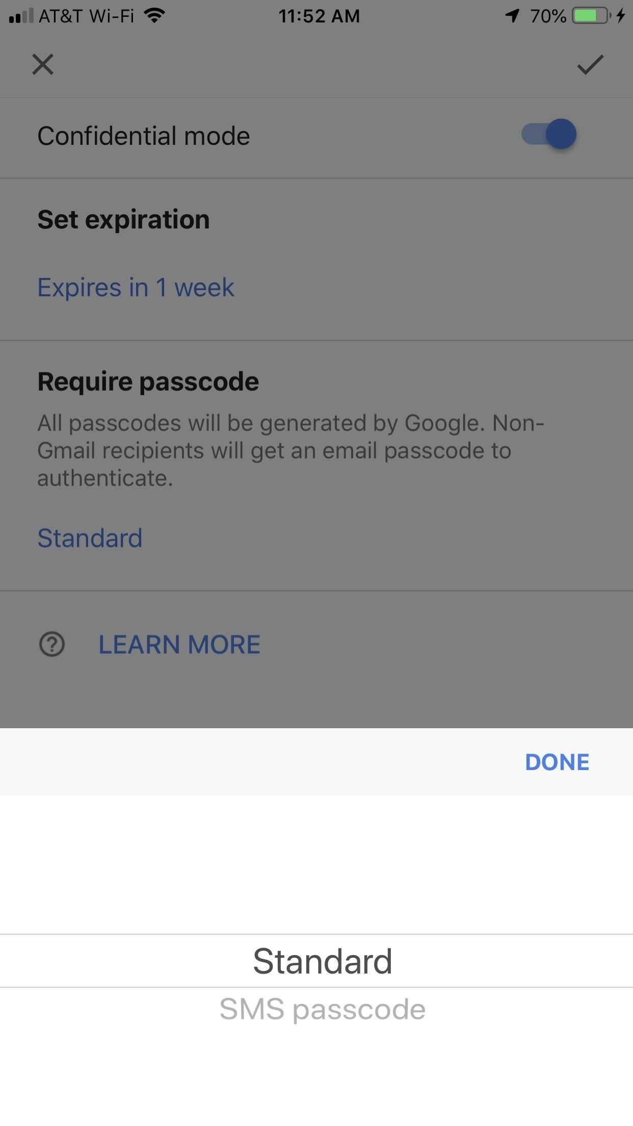 "Using Gmail's new confidential mode to send private, self-destructive emails from your phone [19659012] You can also remove the access before the expiration date by going to the <em> Sent </em> folder, finding the email, and selecting the ""Remove Access"" button. You can renew access if you change your mind with the same button. </p><div><script async src="