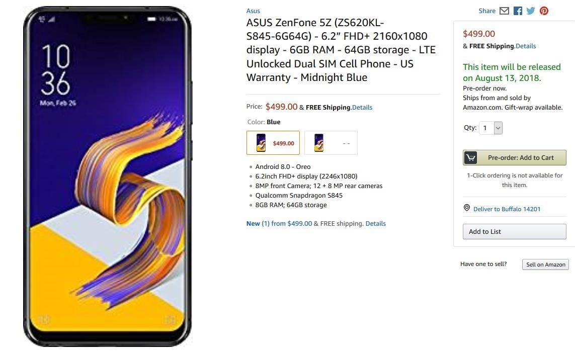 The ASUS ZenFone 5Z comes with Legit Flagship specs for under $ 500 to the US