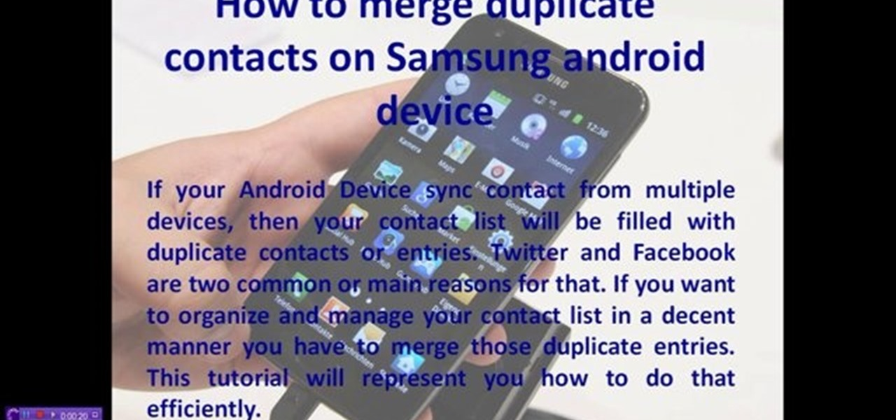 Merge Duplicate Contacts on Samsung Android Device