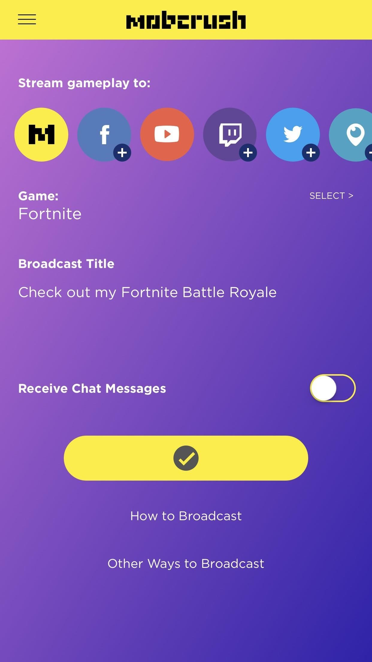 Live Stream Fortnite Battle Royale Gameplay from Your iPhone to