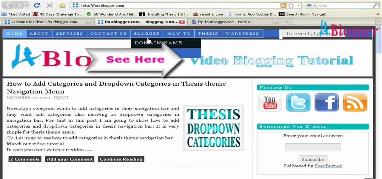 thesis theme header banner