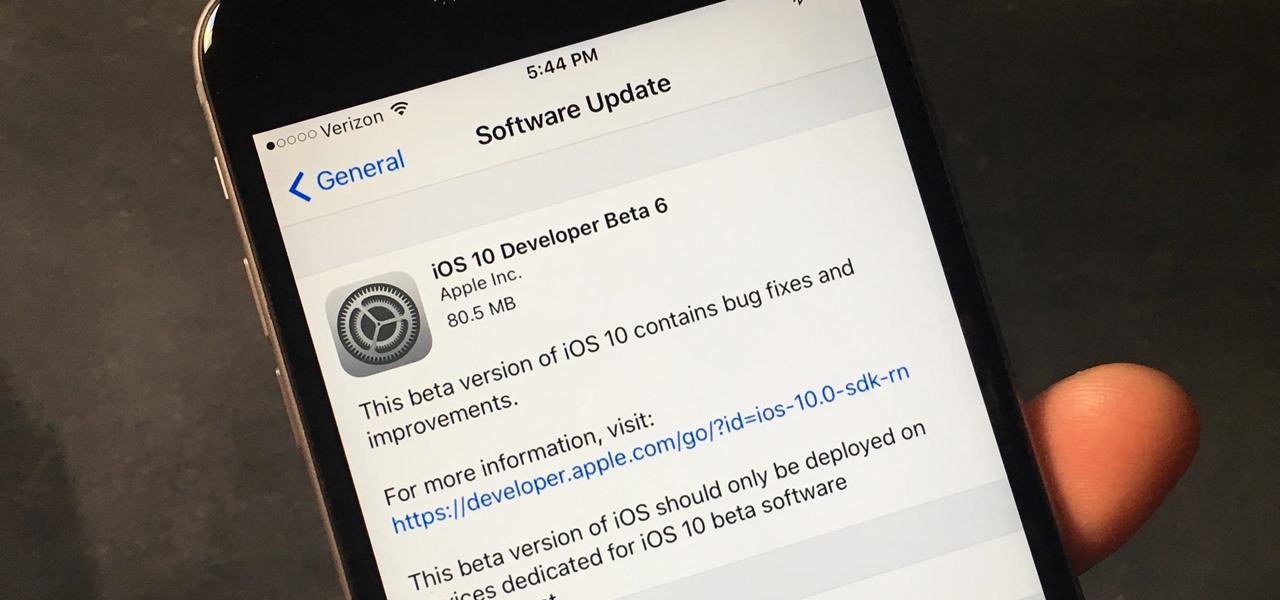 Apple Releases Developer Beta 6 to Put the Finishing Touches on iOS 10