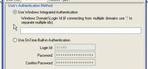 Use authentication in Axosoft OnTime