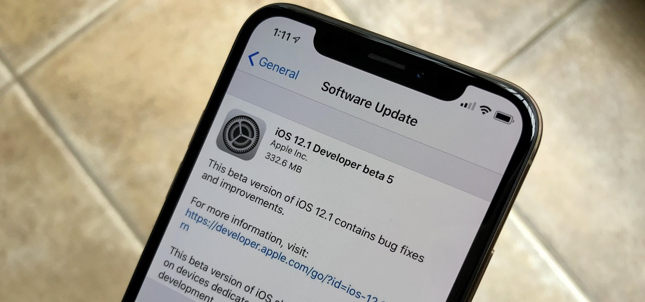 Apple Releases iOS 12.1 Beta 5 to Developers