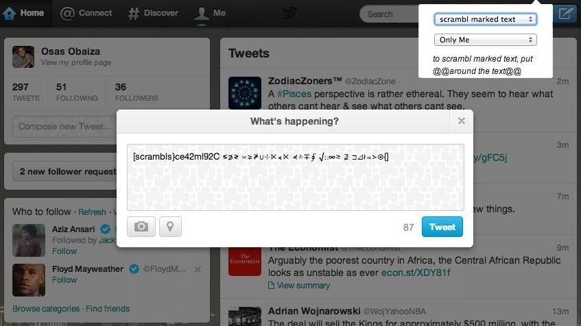 How to Scramble Your Facebook Posts and Tweets into Coded Spy Messages