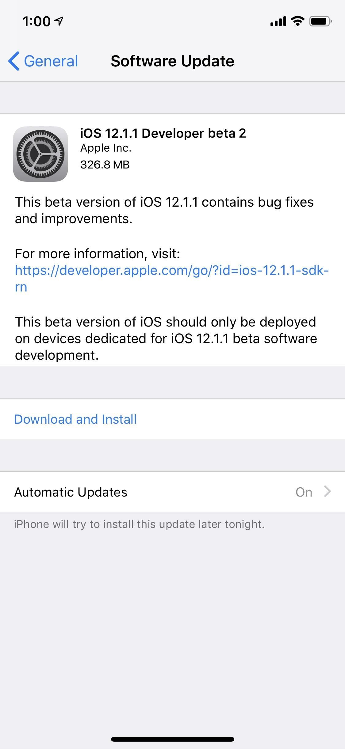 Apple just released iOS 12.1.1 Beta 2 to developer