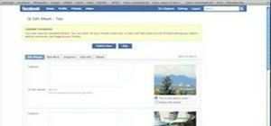 Upload Facebook pictures