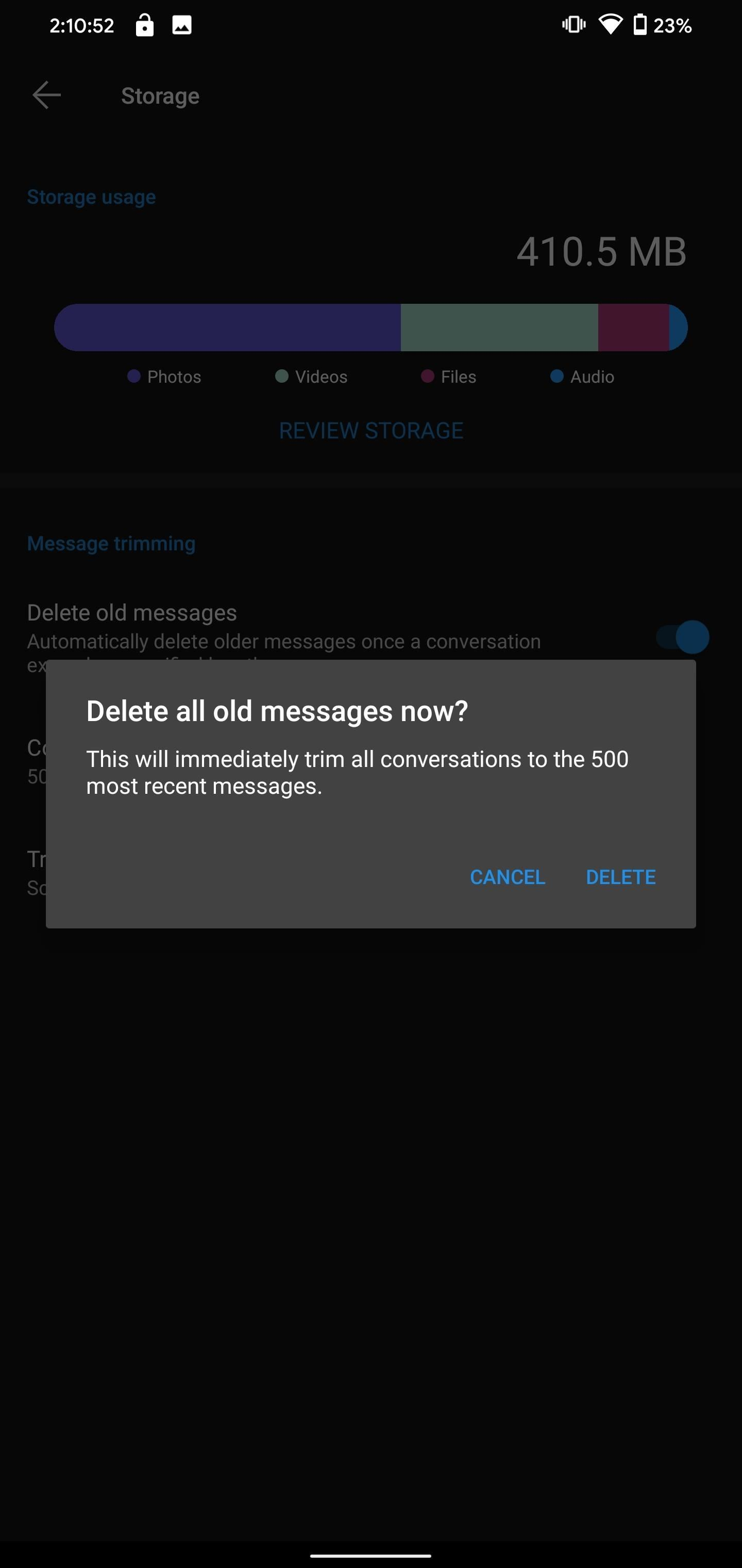 How to Automatically Delete Signal Messages to Save Storage Space