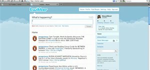 View and access your Twitter account homepage