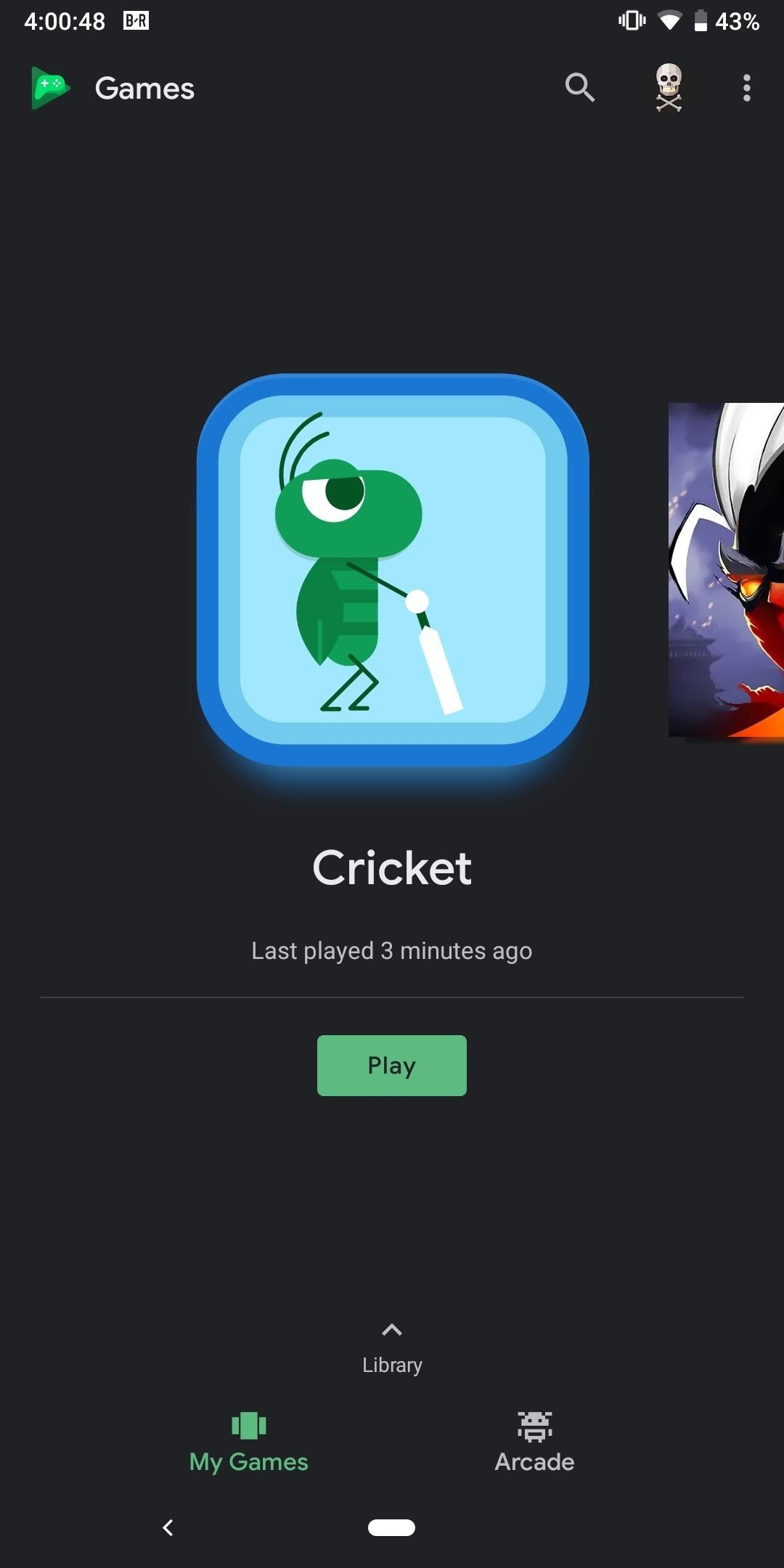 Enabling Dark Mode in Google Play Games