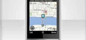 Create and use maps on a Nokia C5-03 mobile phone