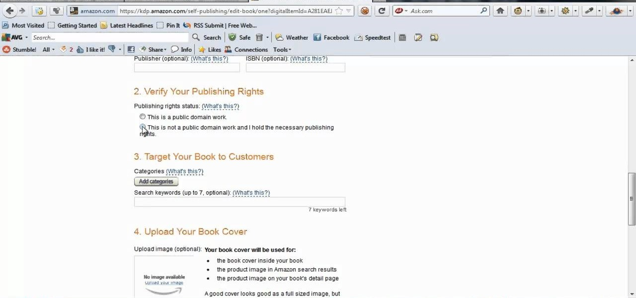 Upload Your Kindle Book to Amazon KDP Platform
