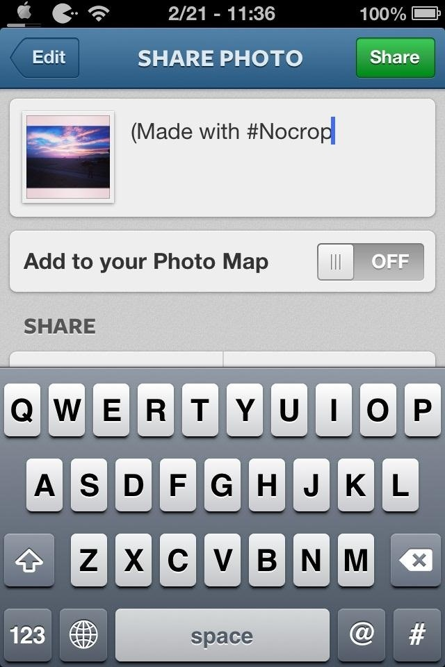 How to Share Any Photo on Instagram Without Cropping It (Using #NoCrop)