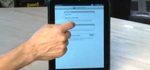 Configure the settings on an HP TouchPad tablet