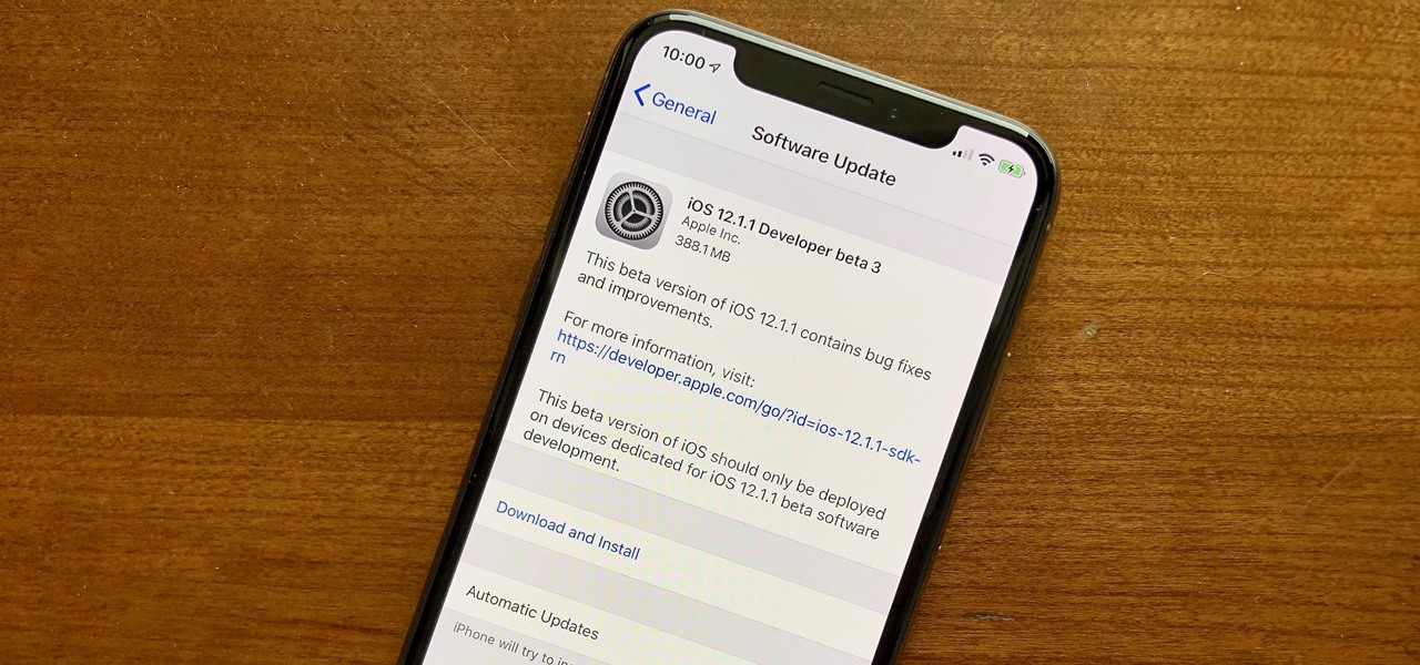 Apple Just Released iOS 12 1 1 Developer Beta 3 to Testers « iOS