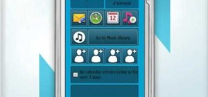 Personalize the home screen on a Nokia N97 smartphone