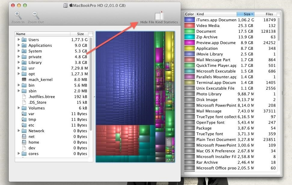 Hunt Down Space-Hogging Files on Your Mac with Disk Inventory X