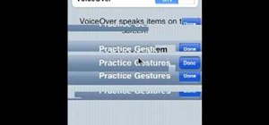 Enable and use VoiceOver on an iPhone, iPad or other Apple iOS mobile device