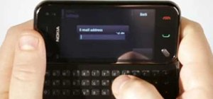 Set up email on a Nokia N97 Mini mobile phone